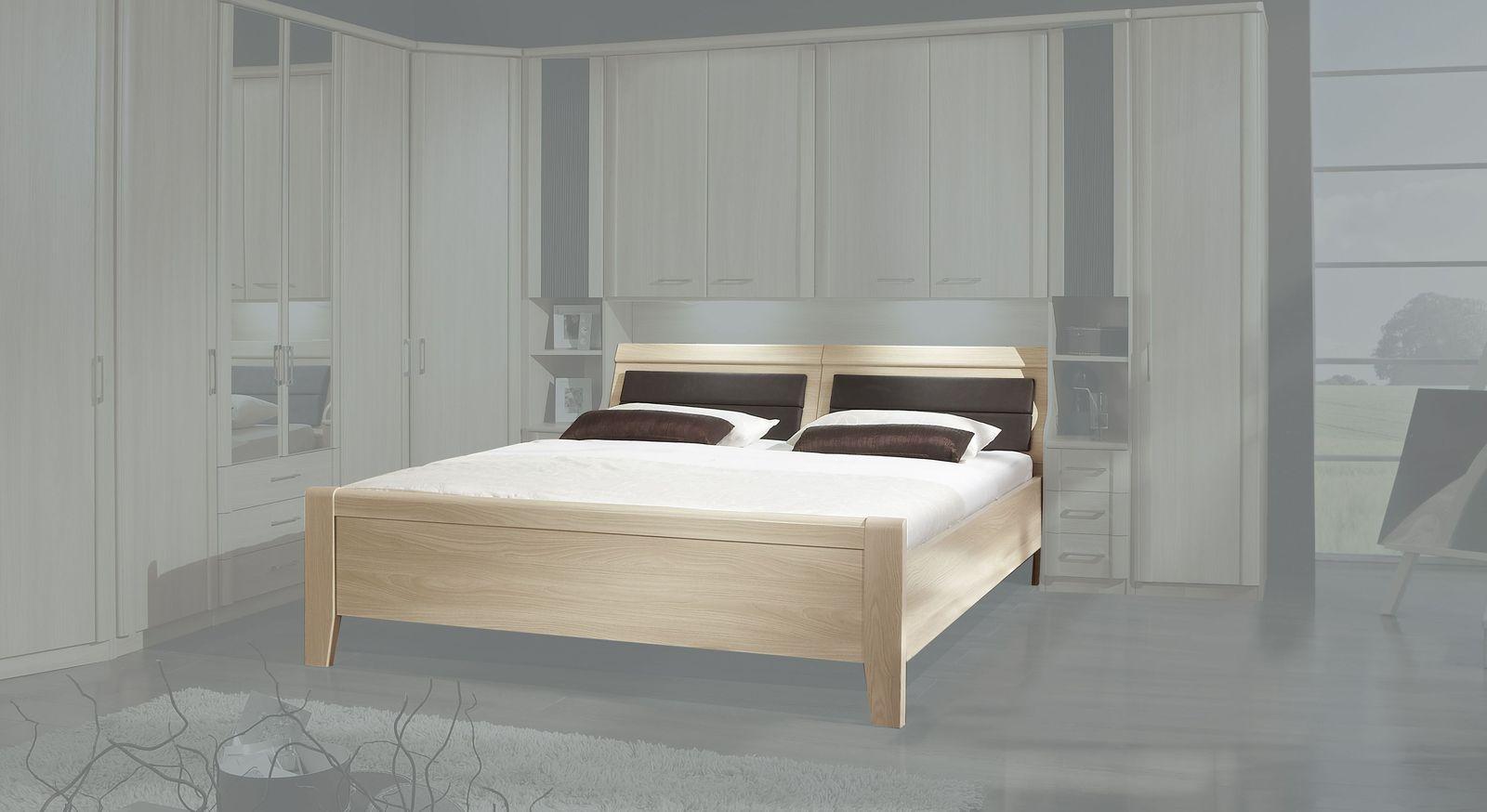 Bettbrücken-Bett Palena in Komforthöhe mit geradlinigem Design