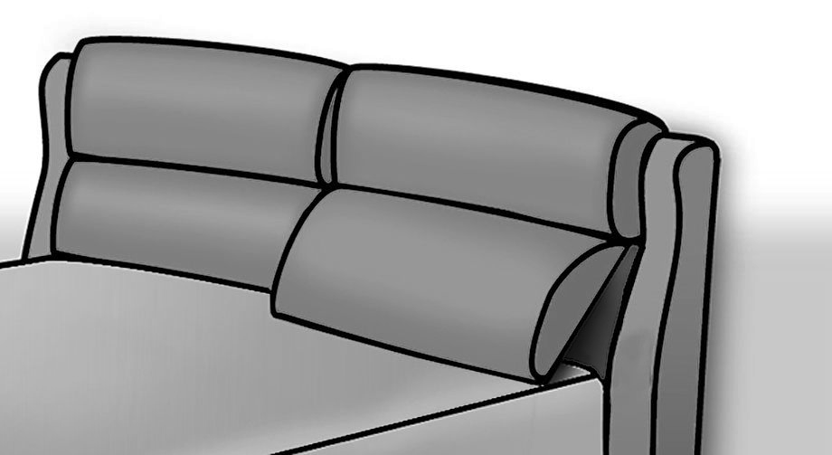 Bett Catania Funktion Kopfteil als bequeme Rückenstütze