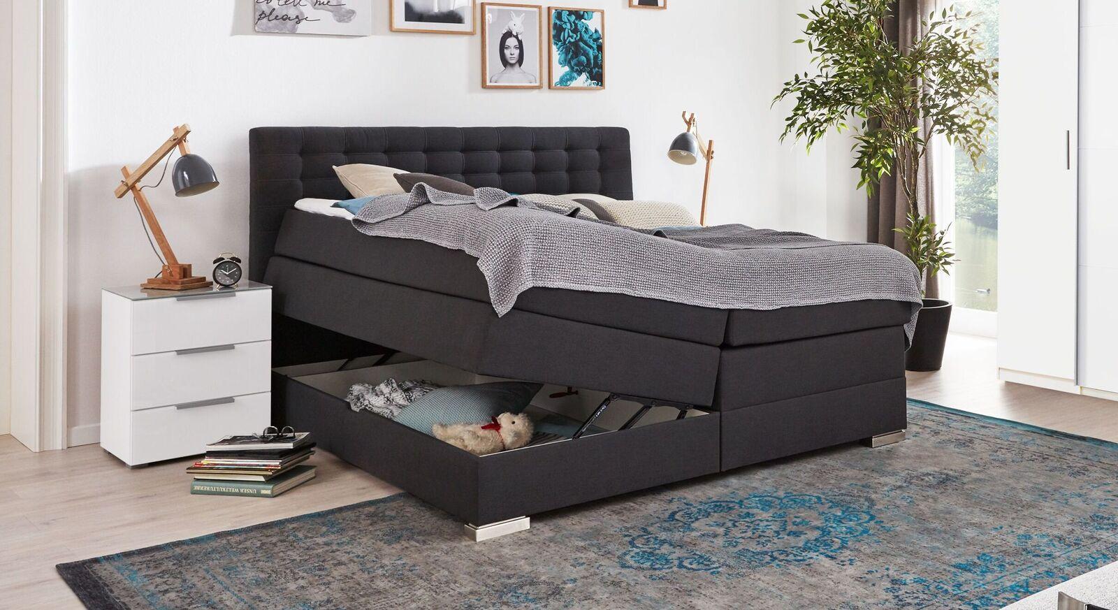 Bettkasten-Boxspringbett Agulo für zwei Personen