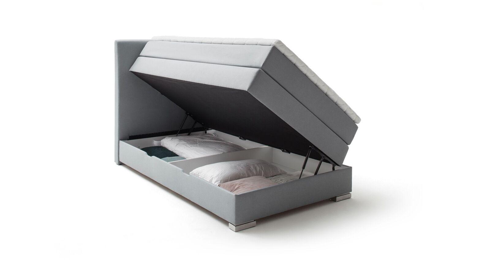 Bettkasten-Boxspringbett Ivetta mit integriertem Stauraum