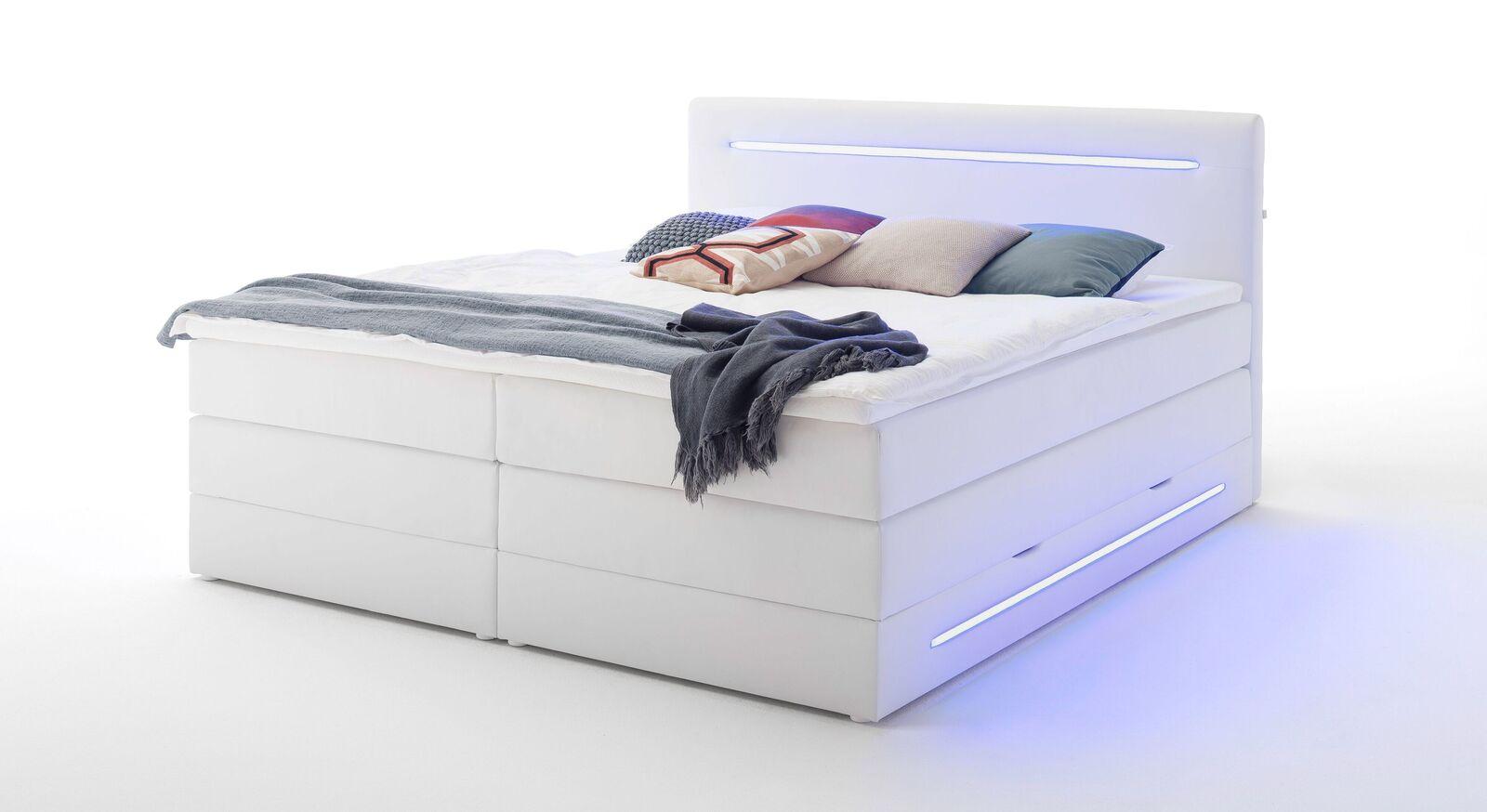Bettkasten-Boxspringbett Tarasco mit geteilten Matratzen