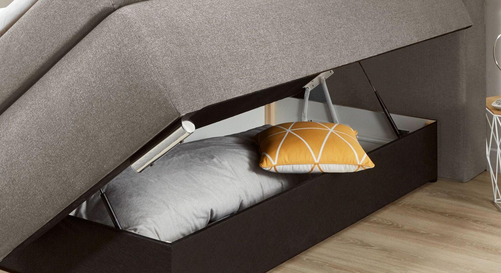 Boxspringbett Taruna mit Gasdruckfedern im Bettkasten