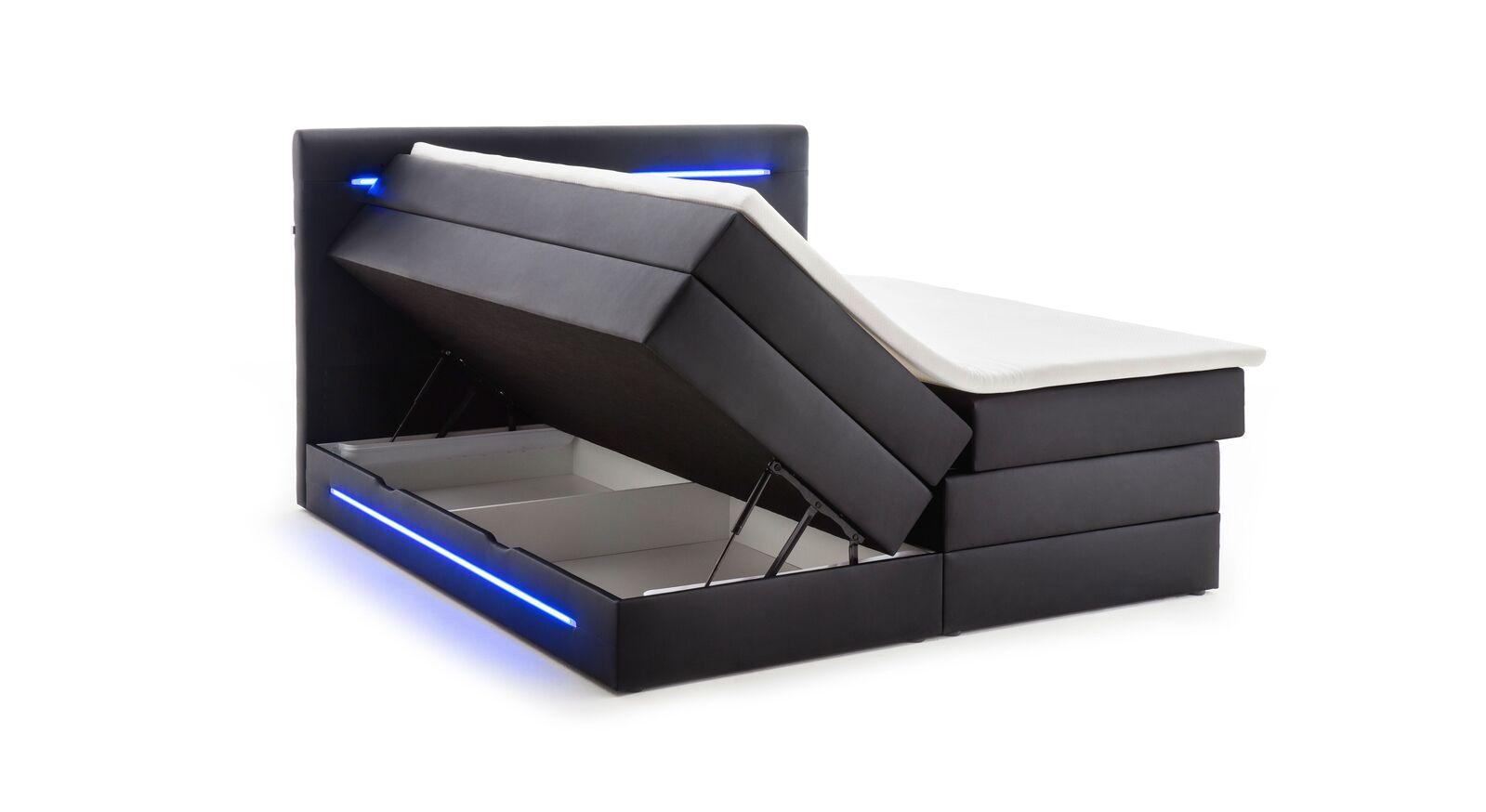 Bettkasten-Boxspringbett Tollocan mit integriertem Stauraum