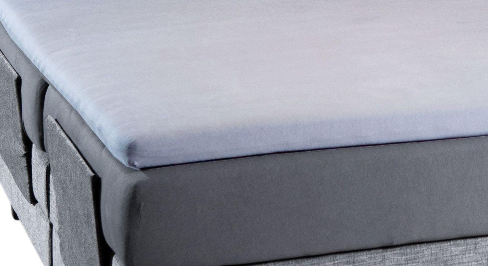 Boxspring-Spannbetttuch für Topper mit faltenfreiem Sitz