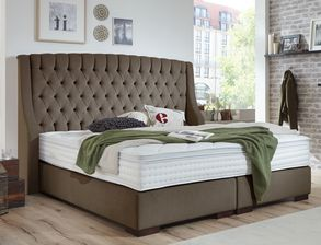 Boxspringbett Bridgeport mit antikem Flair