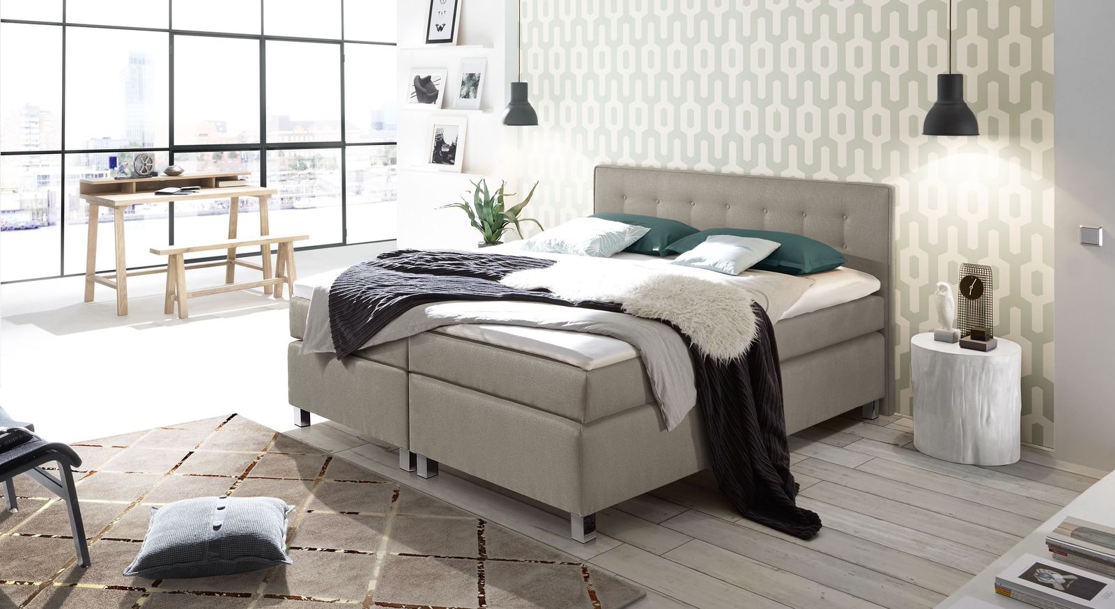Passende Schlafzimmermöbel zum Boxspringbett Dallas