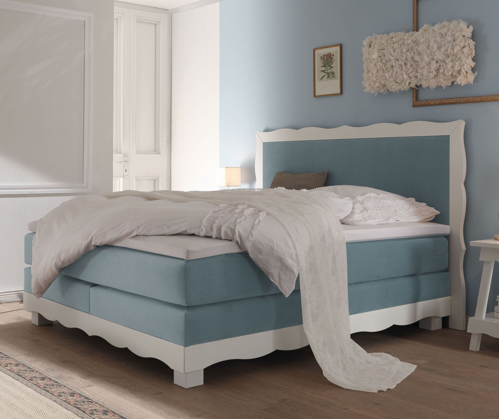 Boxspring Bett Landhausstil