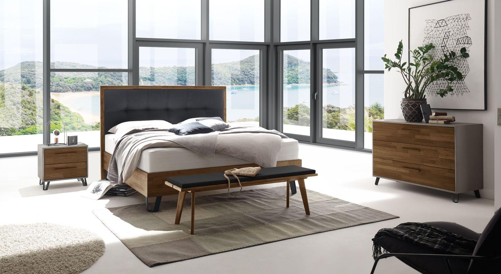 Boxspringbett Sagunto mit passender Schlafzimmer-Ausstattung