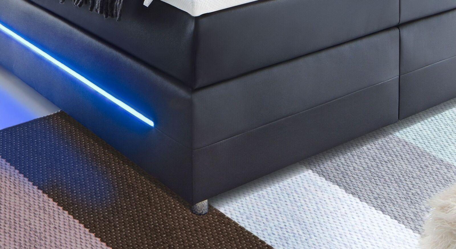 Boxspringbett Shelford mit seitlicher Box-Beleuchtung