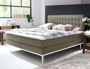 Boxspringbett Tromello in trendigem Retro-Look