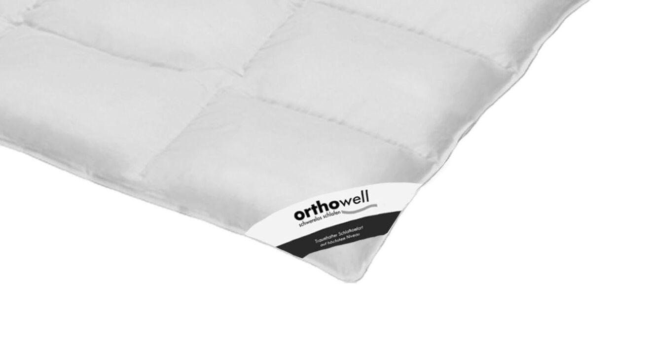 Daunen-Bettdecke orthowell normal in Markenqualität