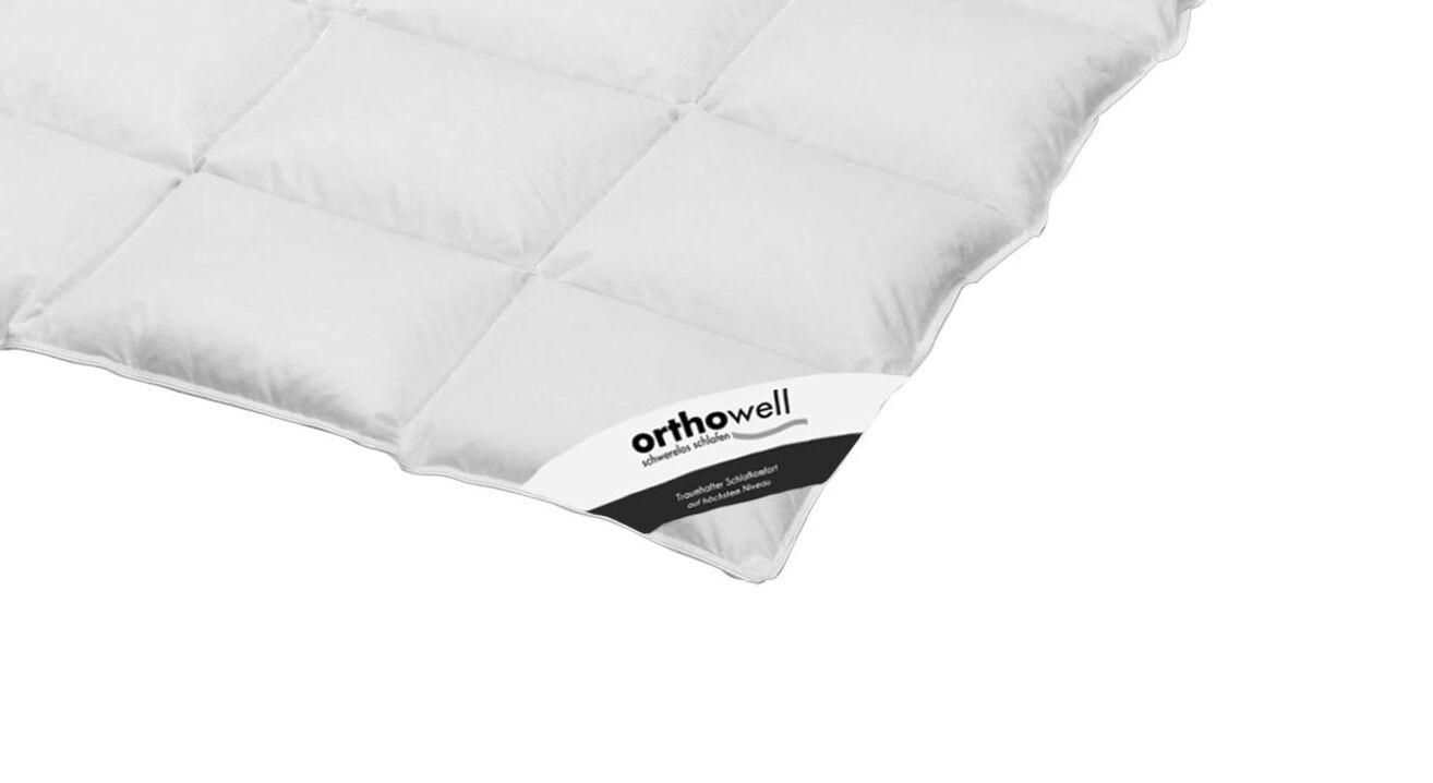Daunen-Bettdecke orthowell Standard medium in Markenqualität