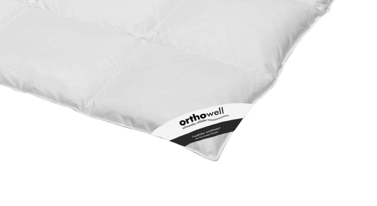 Daunen-Bettdecke orthowell Standard warm in Markenqualität