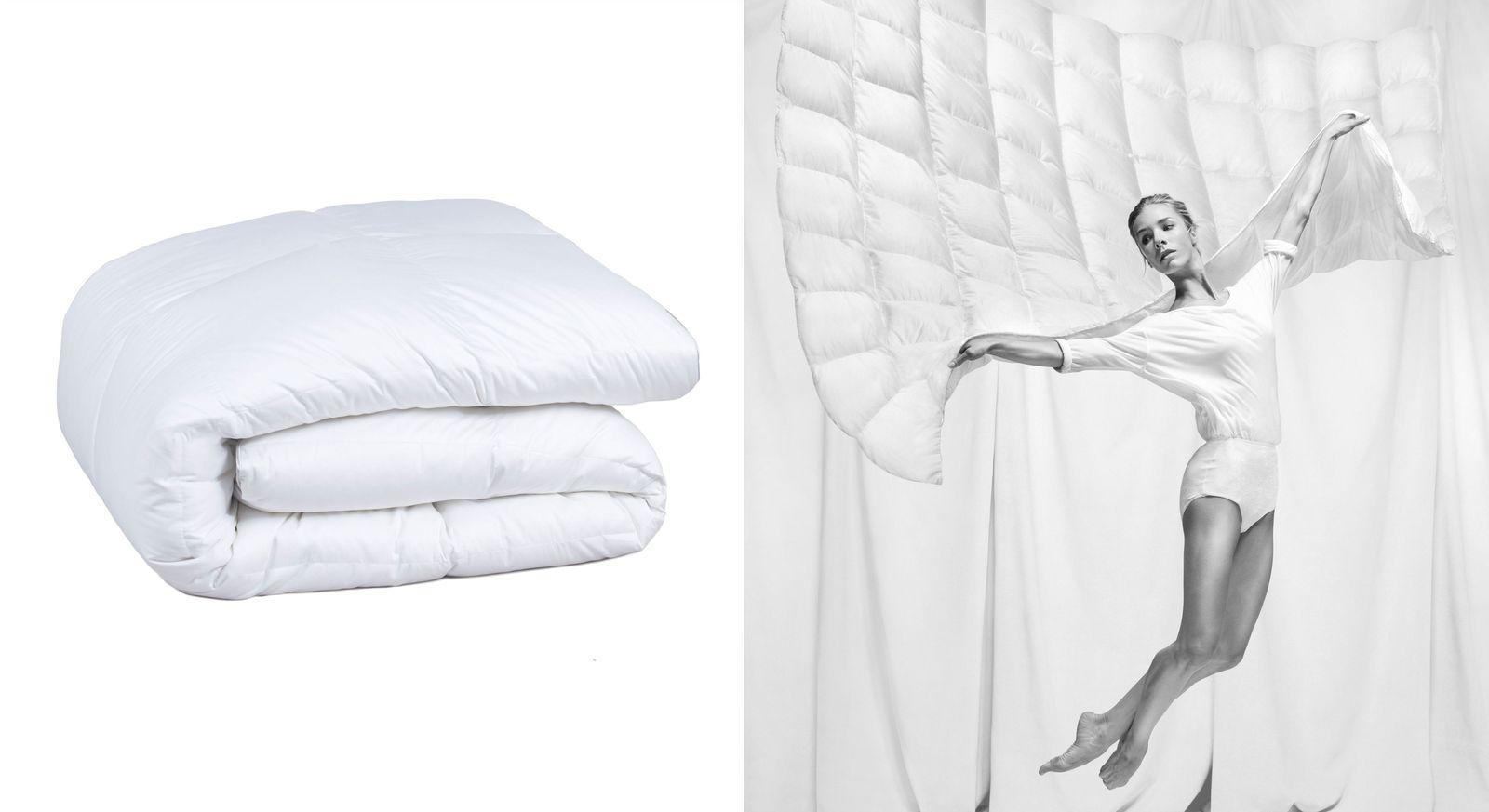 Daunen-Bettdecke Pyrenex royal medium mit Jacquard-Bezug aus Baumwolle