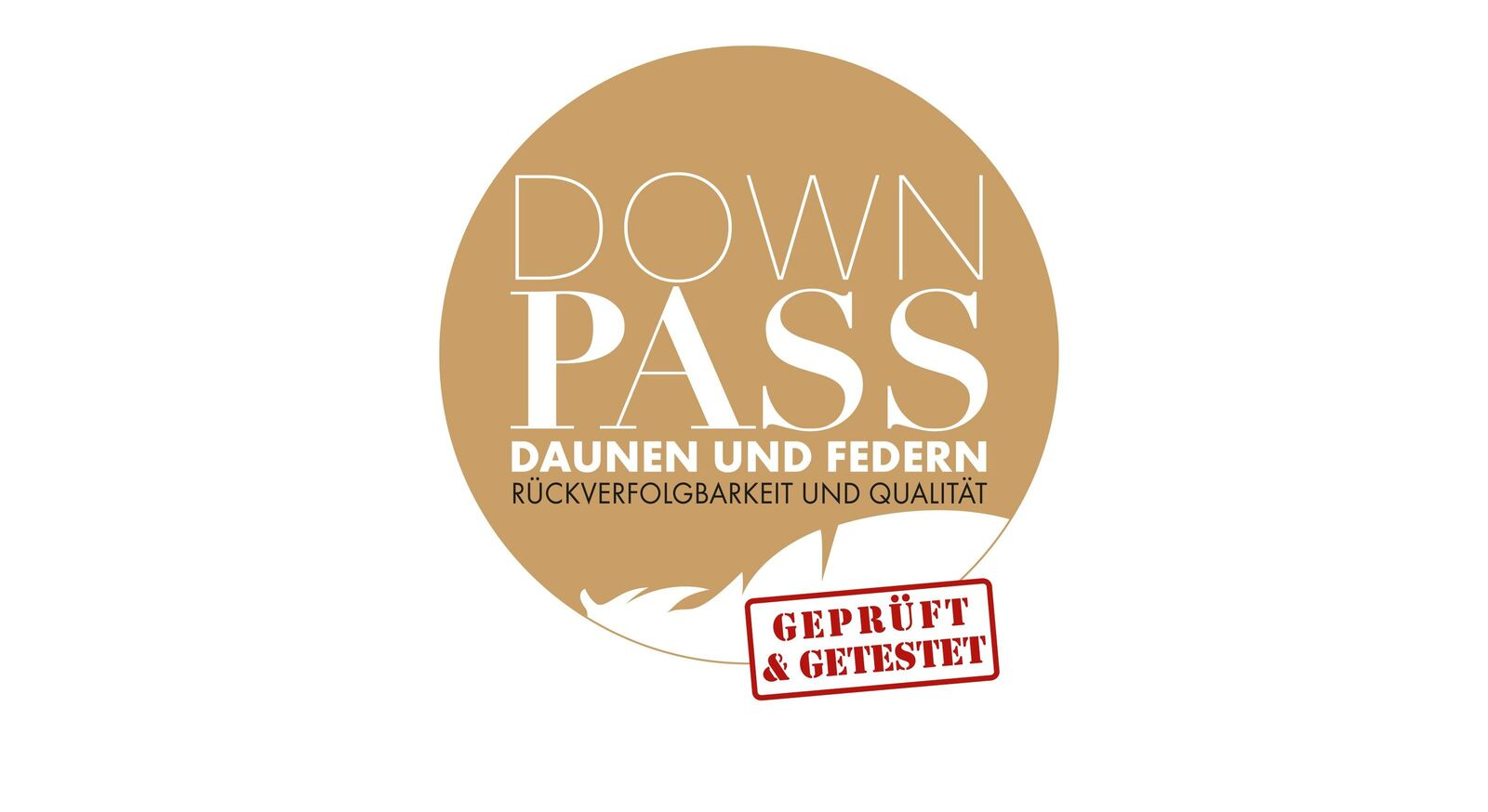 Daunen-Bettdecken orthowell mit Down-Pass Siegel