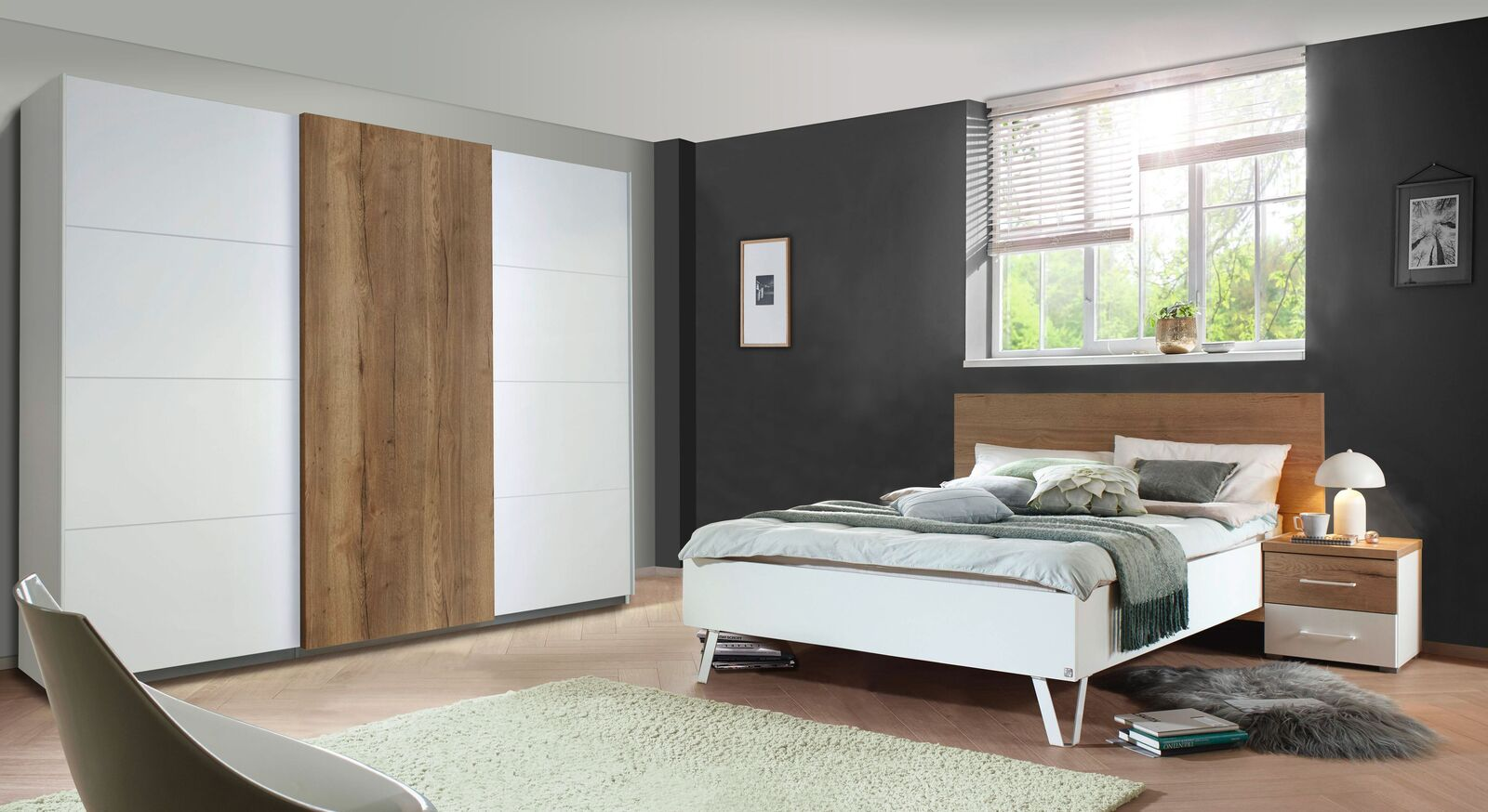 Passende Schlafzimmer-Produkte fürs Designerbett Leona