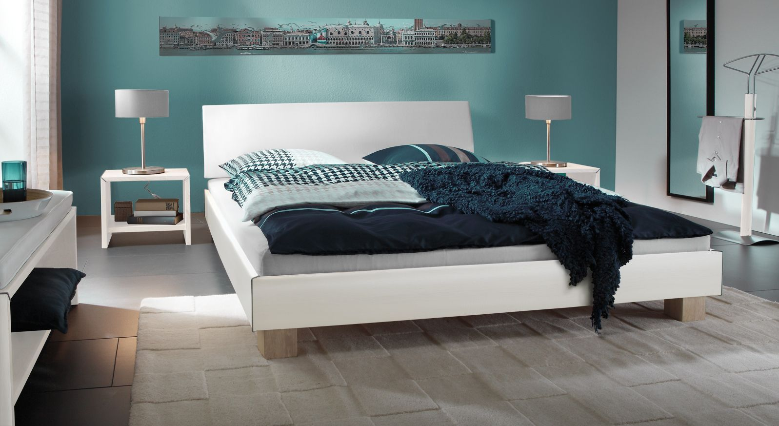 Doppelbett Legano in Weiß