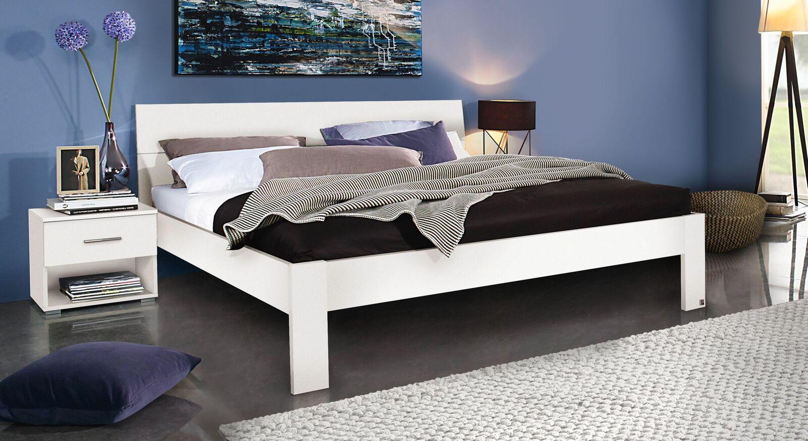 Doppelbett Leilani schlicht weiß