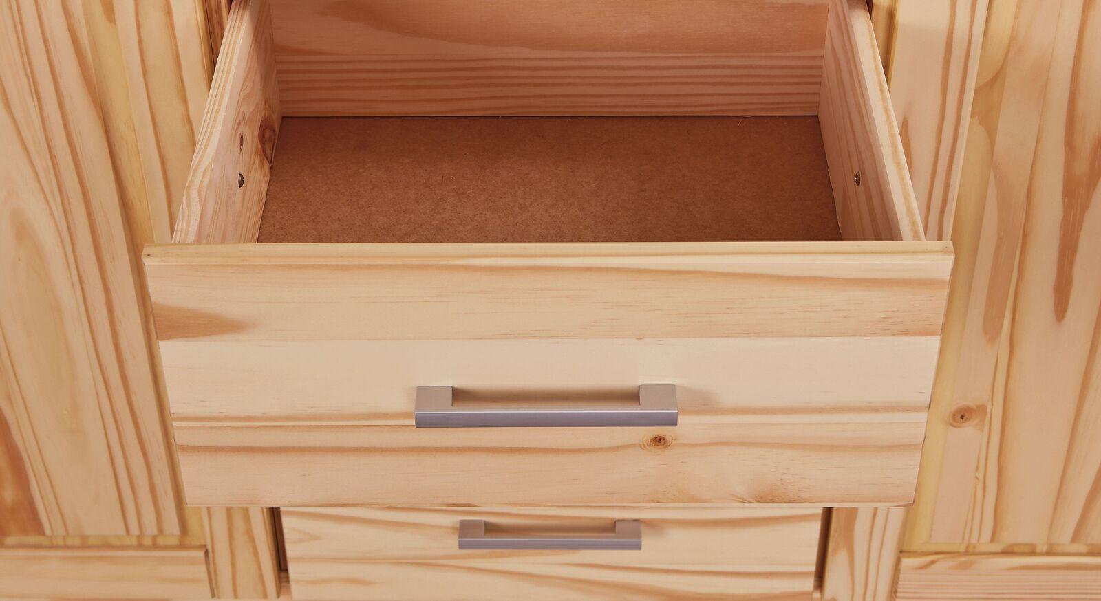Drehtüren-Kleiderschrank Bregenz mit schmalen Schubladen
