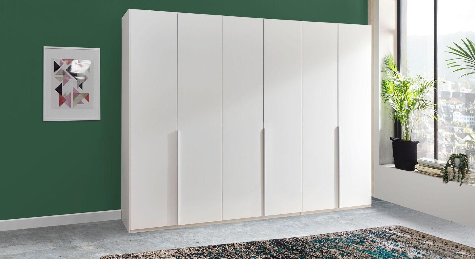 Praktischer Drehtüren-Kleiderschrank Ceprano mit 6 Türen