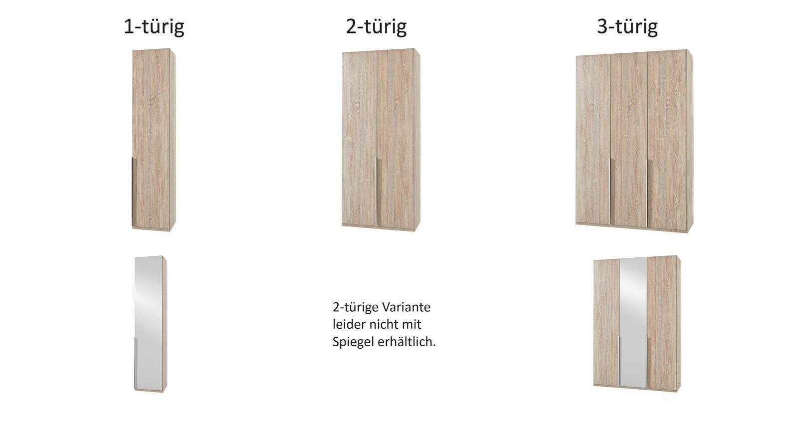 Schmale Varianten des Drehtüren-Kleiderschranks Coreno