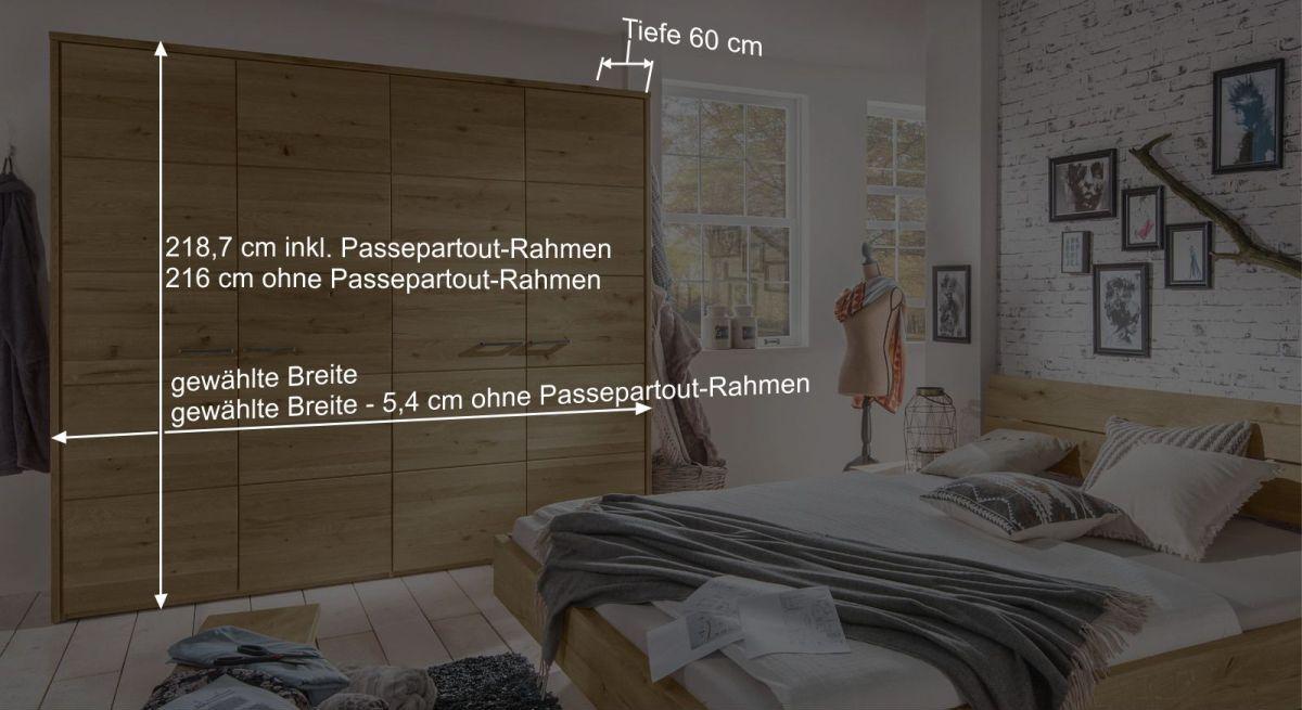 Bemaßungs-Skizze zum Drehtüren-Kleiderschrank Kärnten
