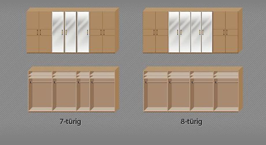 Geräumiger Drehtüren-Kleiderschrank Temara in Komfort-Breite