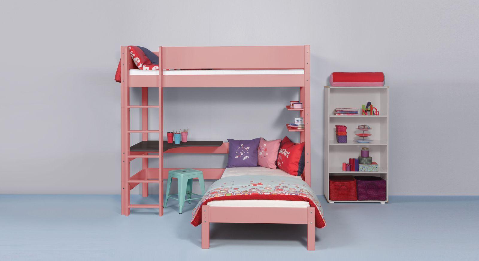 Eck-Etagenbett Kids Town Color aus lackiertem MDF