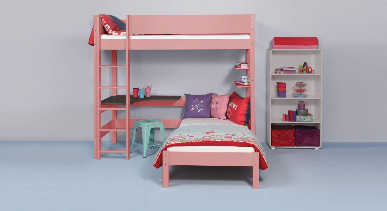 Modernes Eck-Etagenbett Kids Town Color aus stabilem MDF