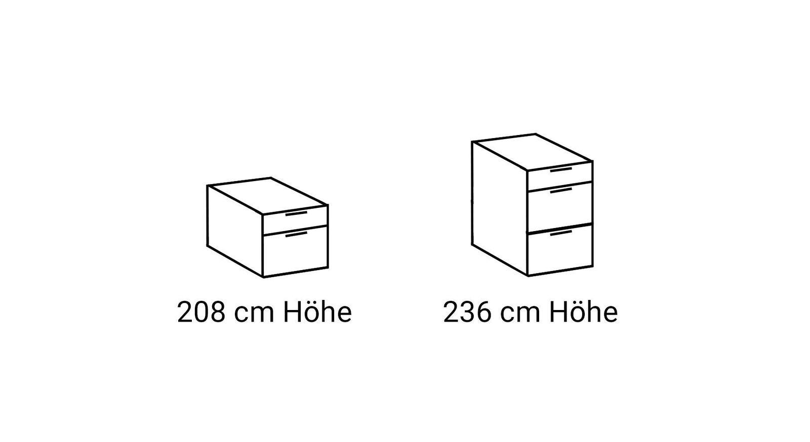 Schubladen-Anzahl von Eck-Kleiderschränken