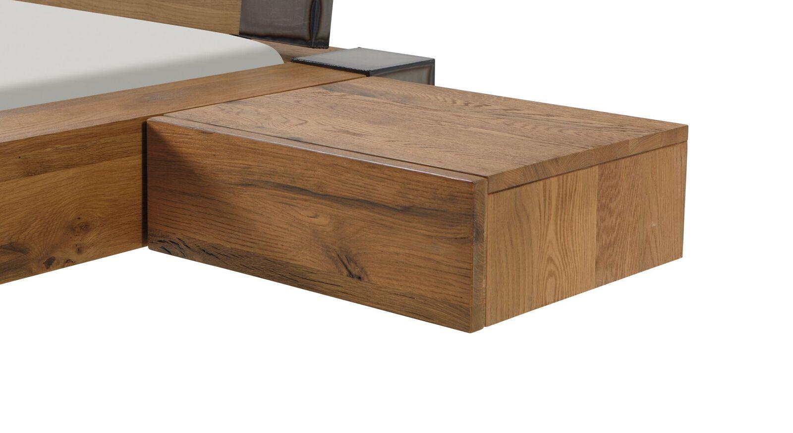 Einhänge-Nachttisch Liro aus Wildeiche natur