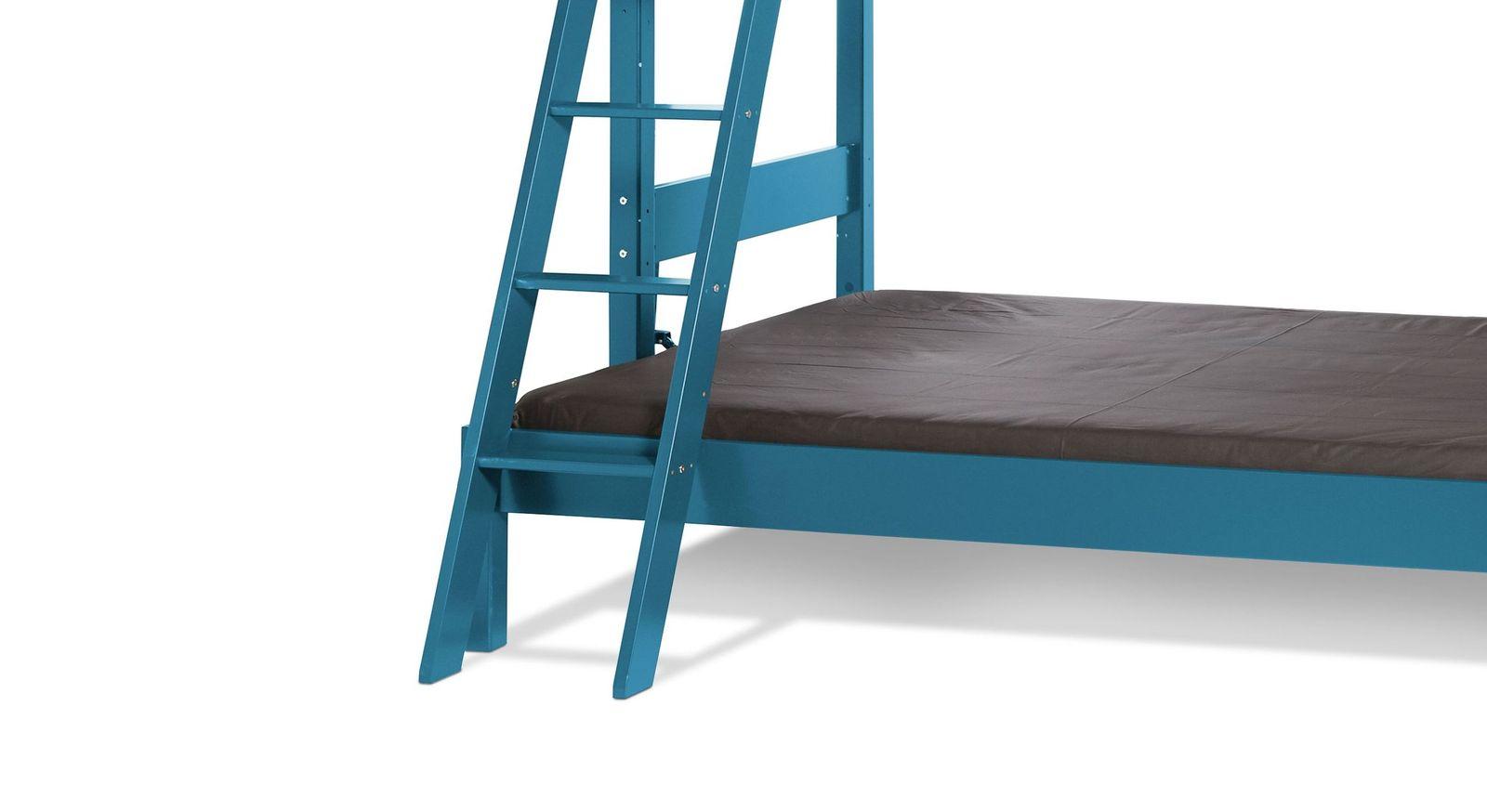 Etagen-Kombibett Kids Town Color inklusive Leiter mit flachen Stufen