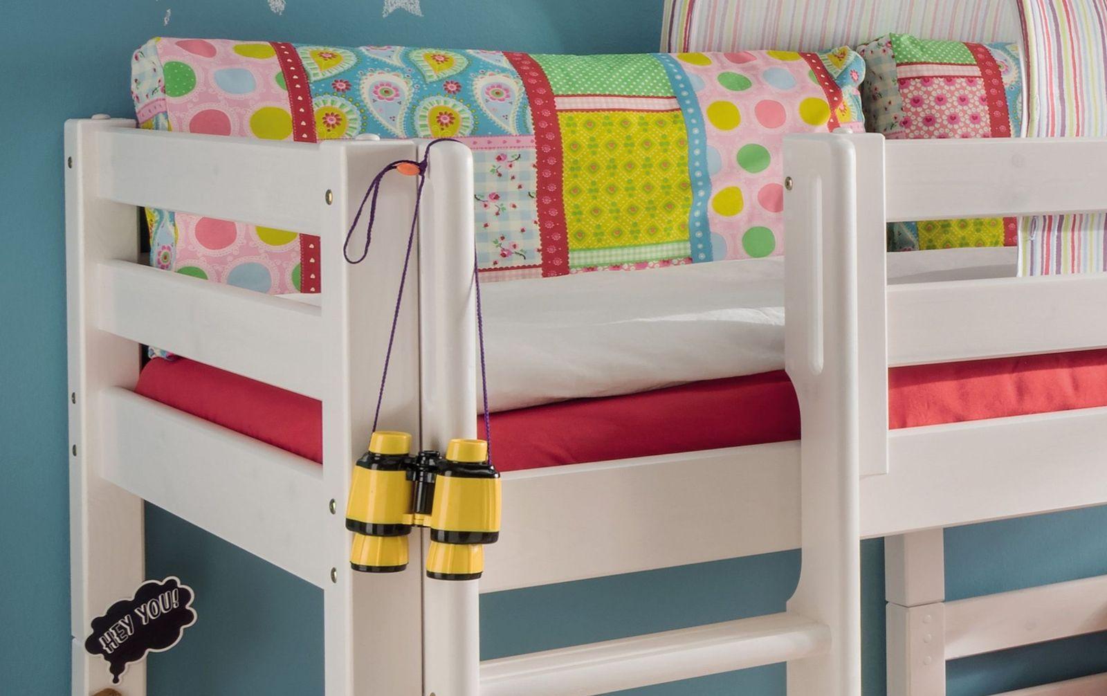 Etagenbett Kids Paradise für Dachschrägen mit kindgerechtem Einstieg