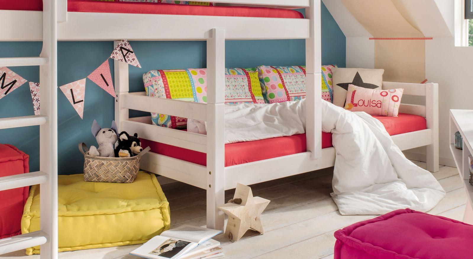 Etagenbett Kids Paradise für Dachschrägen mit stabiler Verbindung