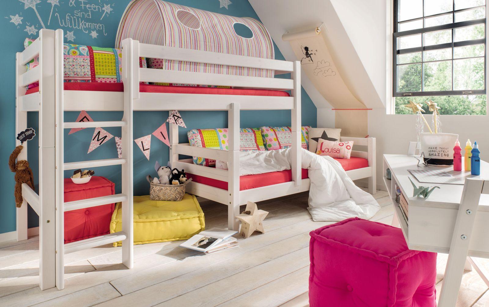 Etagenbett Kids Paradise für Dachschrägen mit stufenförmigen Aufbau