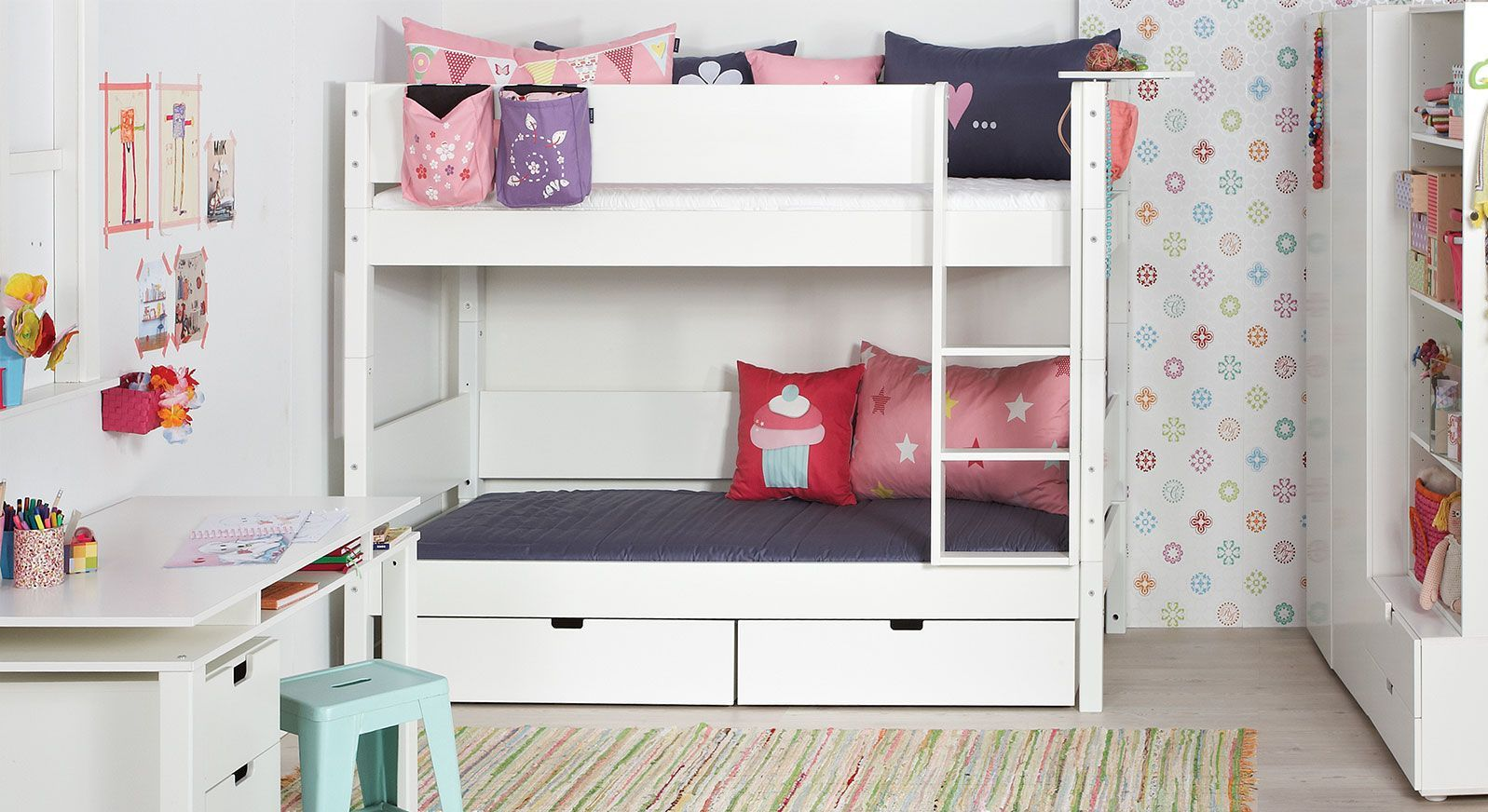 Etagenbett Angebot : Etagenbett kinderbett rose treppe links kaufen auf ricardo