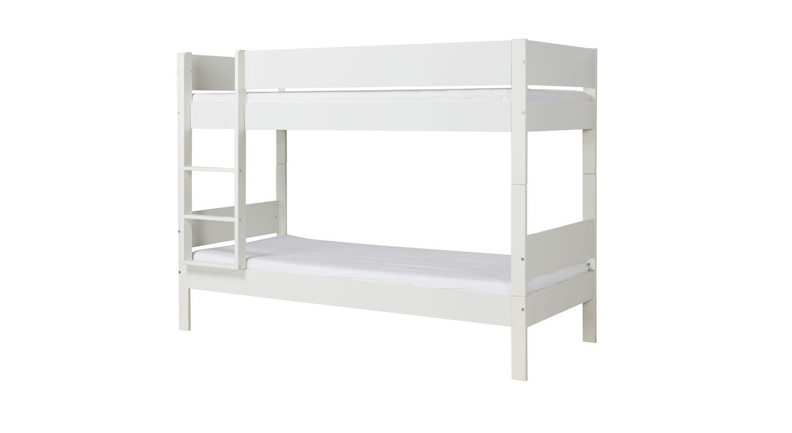 Etagenbett Tacora aus weiß lackiertem MDF