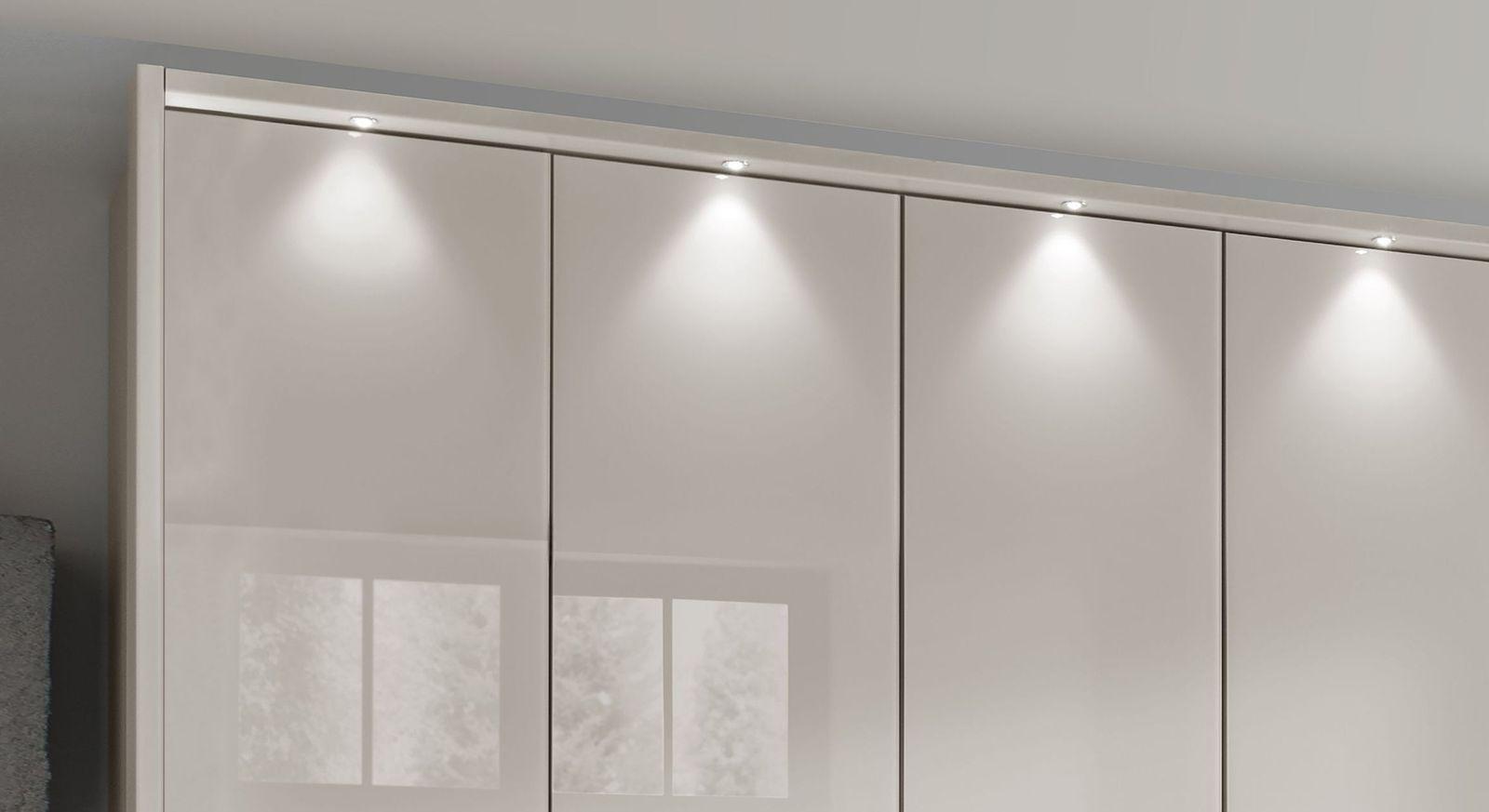 Falttüren-Kleiderschrank Northville mit angenehmem Licht fürs Schlafzimmer