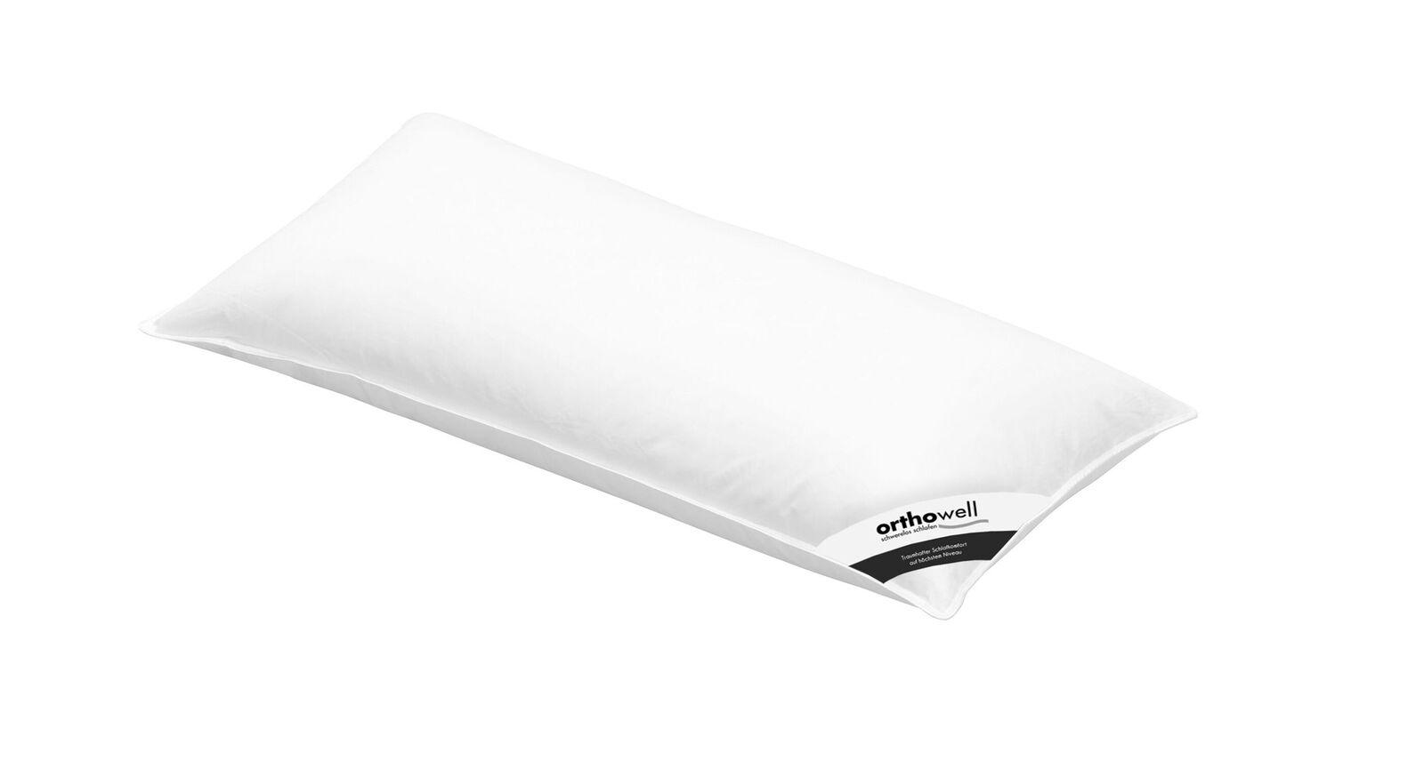 Faser-Kissen orthowell Premium in 40x80cm mit Baumwollbezug