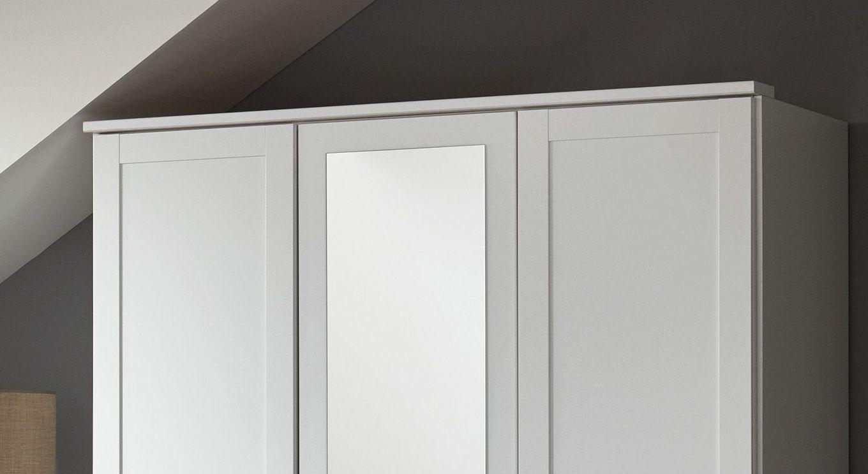 Funktions-Kleiderschrank Aradeo inklusive Spiegel und Kranzleiste