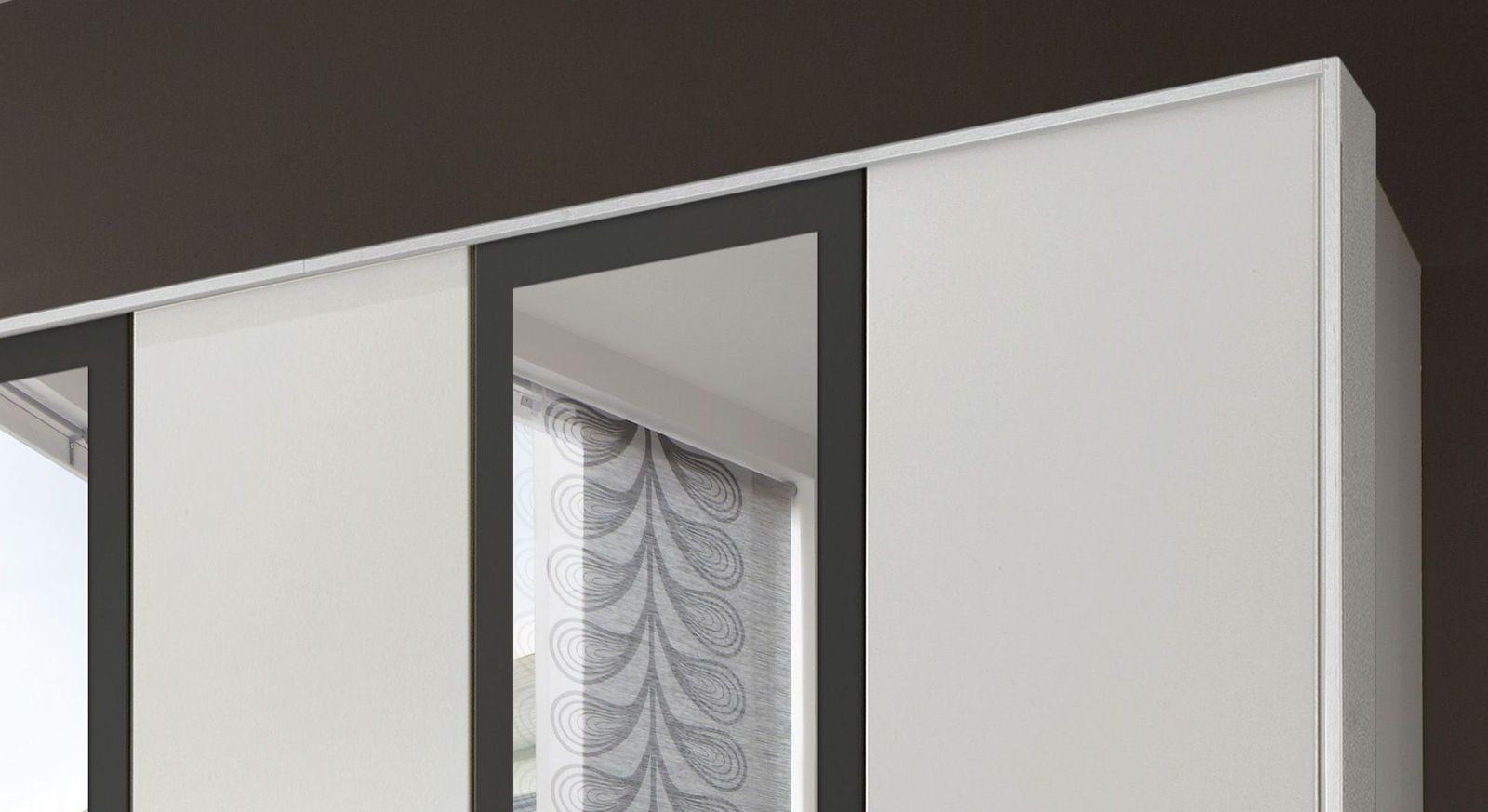 Moderner Funktions-Kleiderschrank Belcastro mit Rahmen