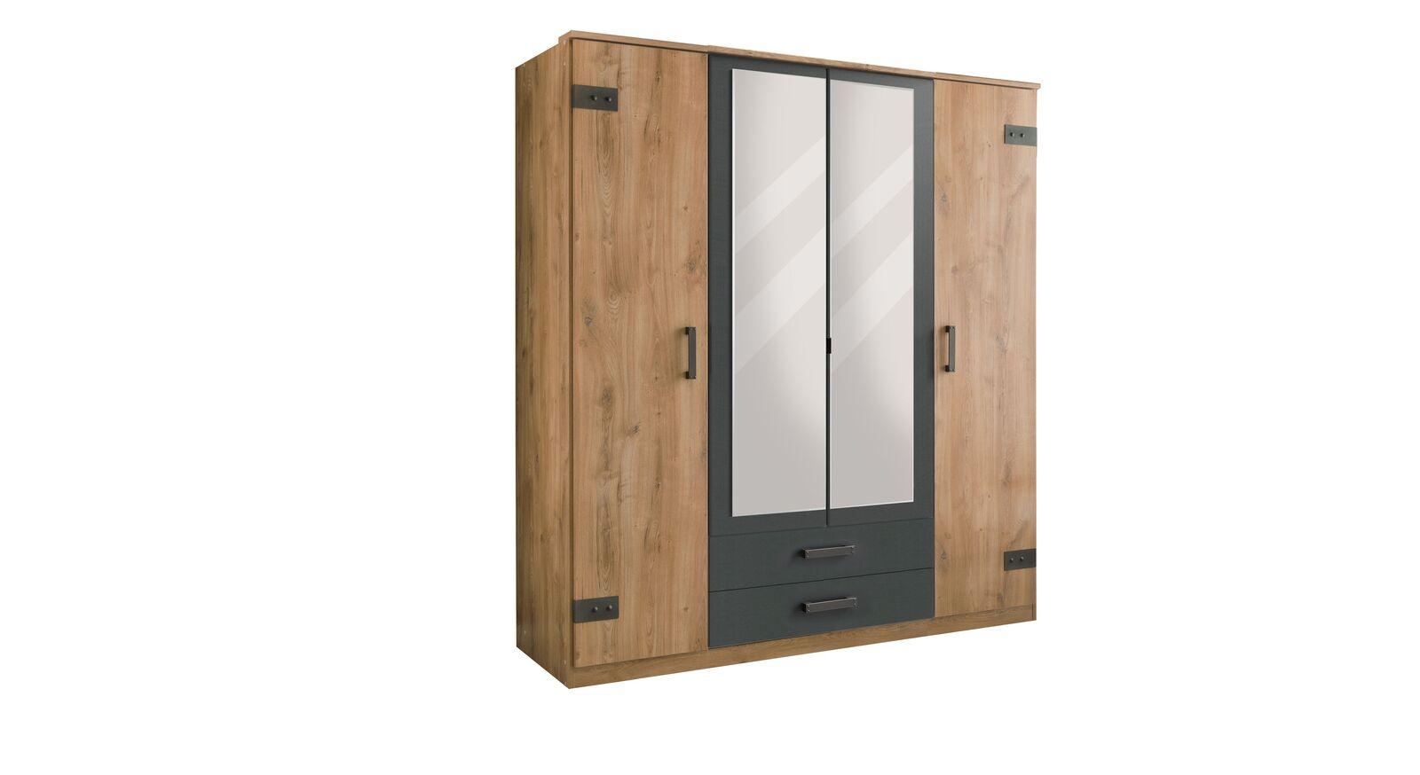 Funktions-Kleiderschrank Borlotto mit vier Türen