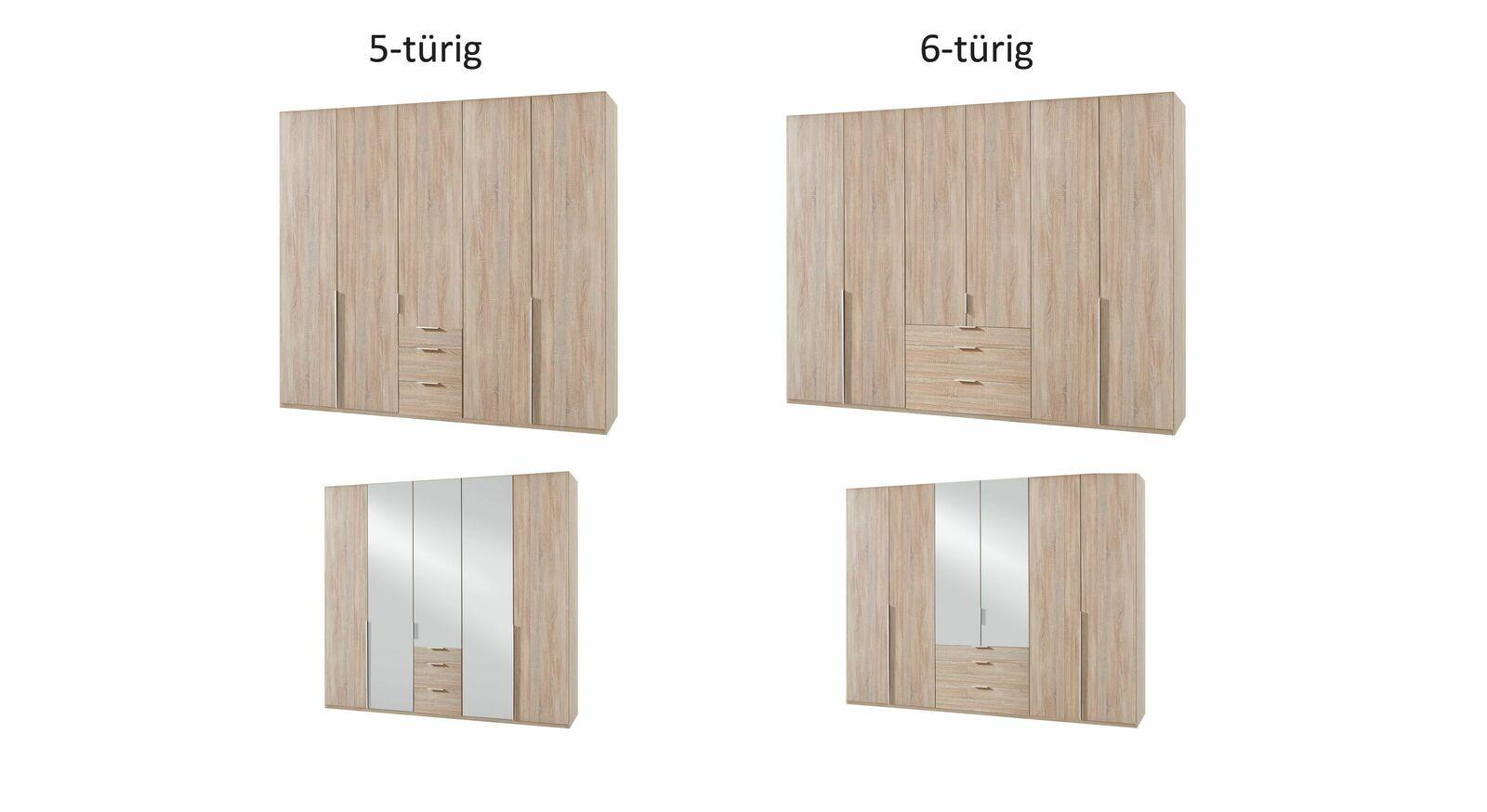 Grafik zum Funktions-Kleiderschrank Coreno mit Dekor- oder Spiegelfront