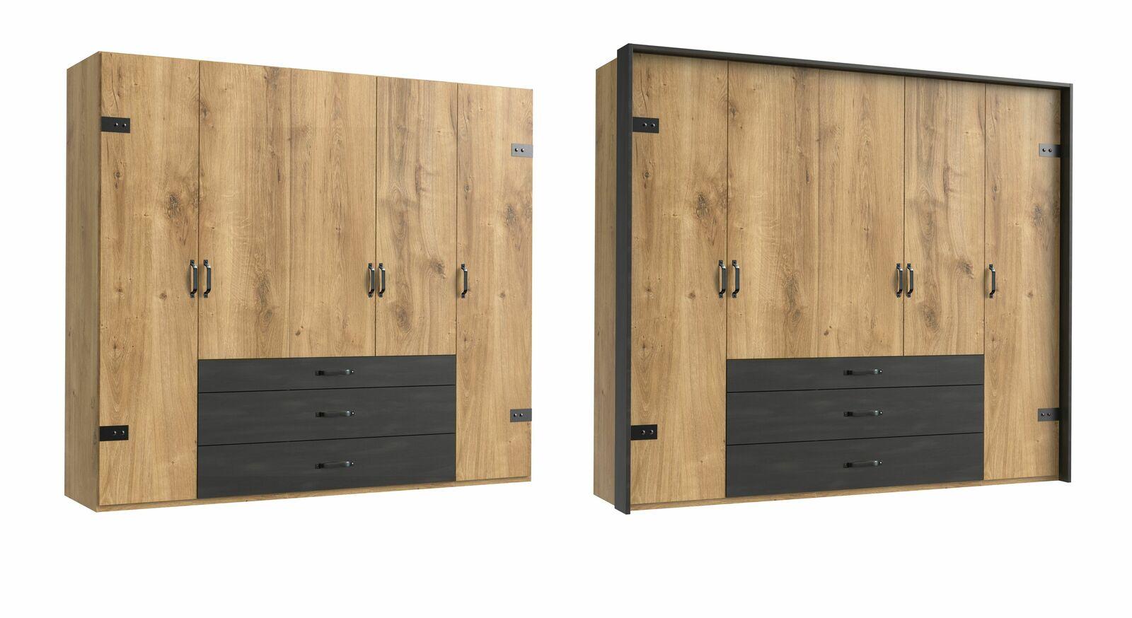 5-türige Variante des Funktions-Kleiderschranks Lakewood