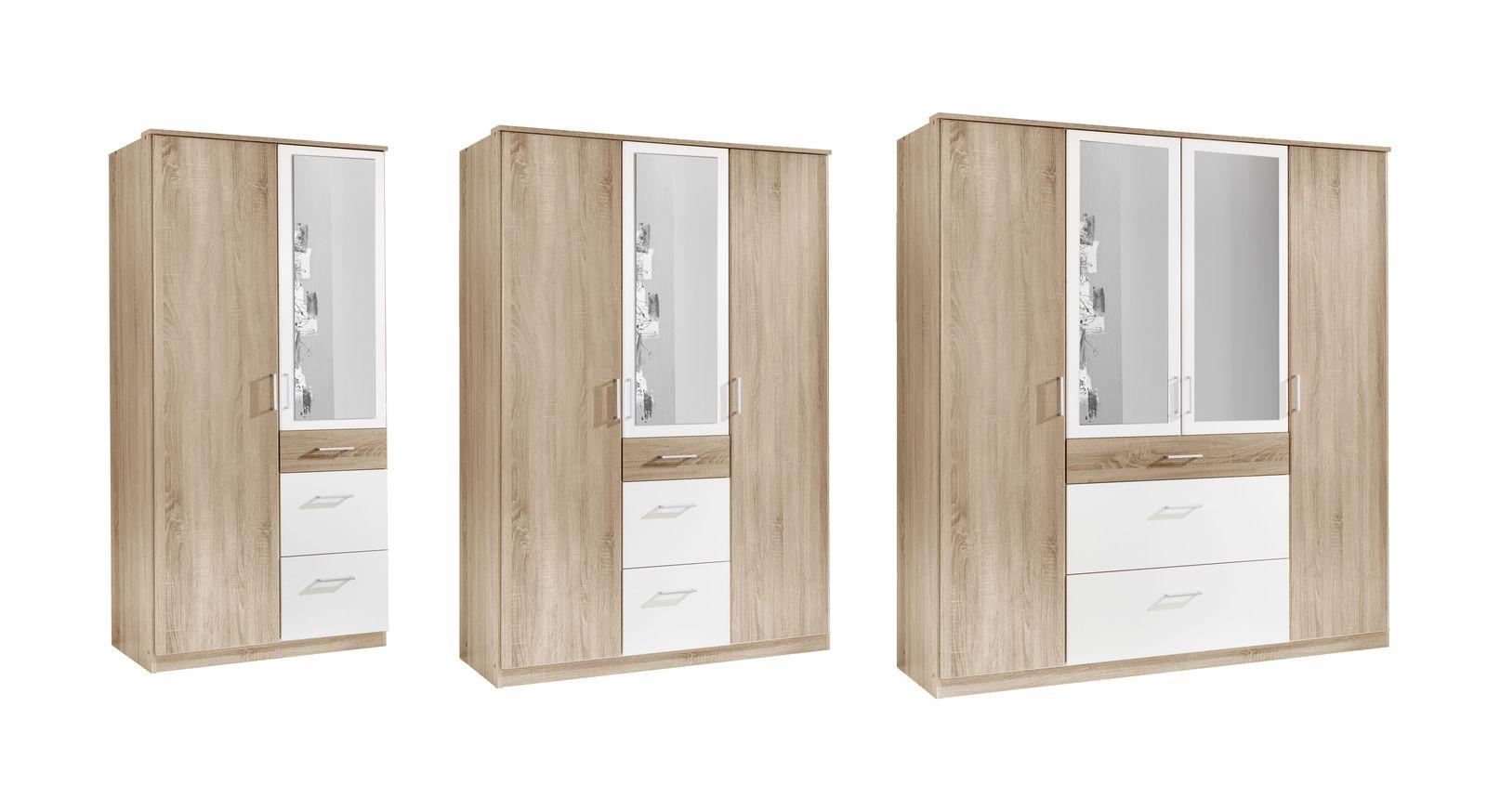 Funktions-Kleiderschrank Prea mit Spiegel und Schubladen