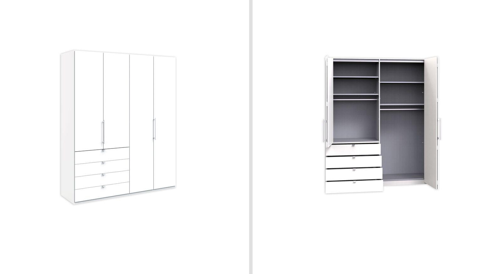 Funktions-Kleiderschrank Salford 200 cm mit Auszügen links