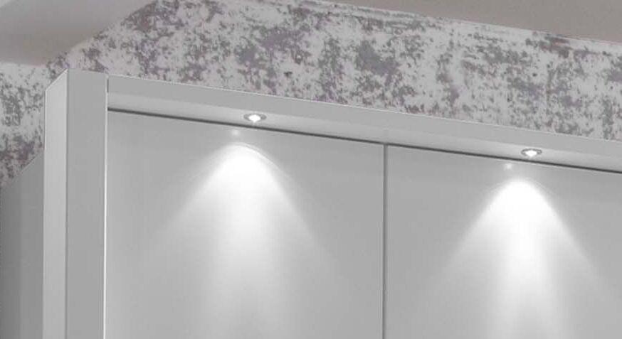 Funktions-Kleiderschrank Salford mit Passepartout und Beleuchtung