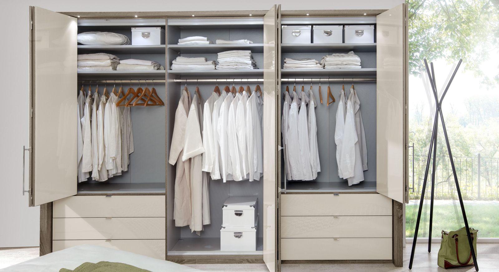 Funktions-Kleiderschrank Tiko mit Fachböden und Kleiderstange