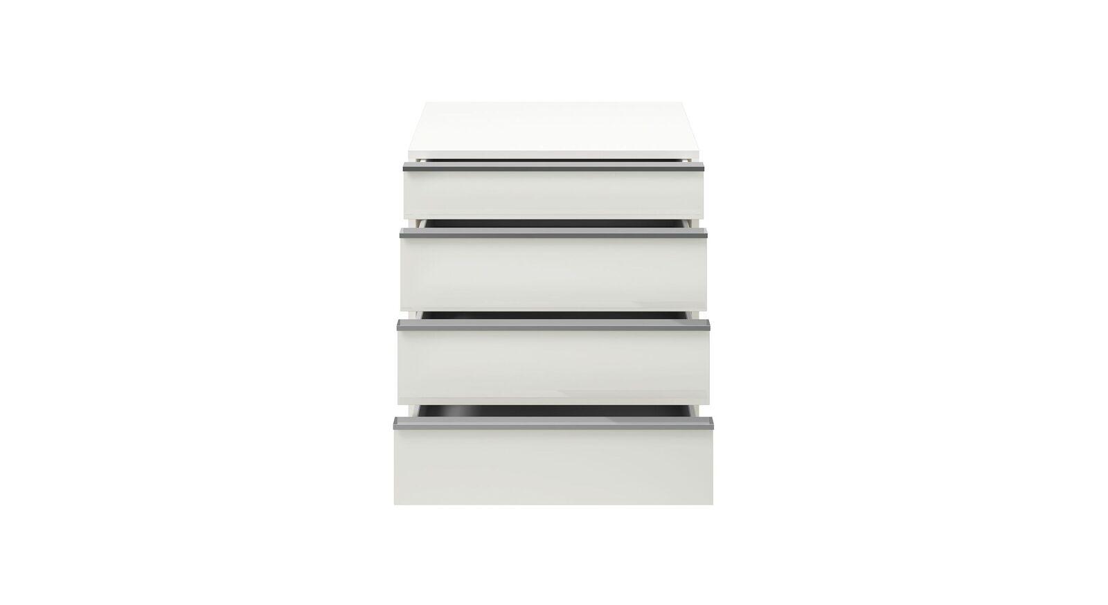 GALLERY M Nachttisch IMOLA W in Weiß mit schmaler Schublade