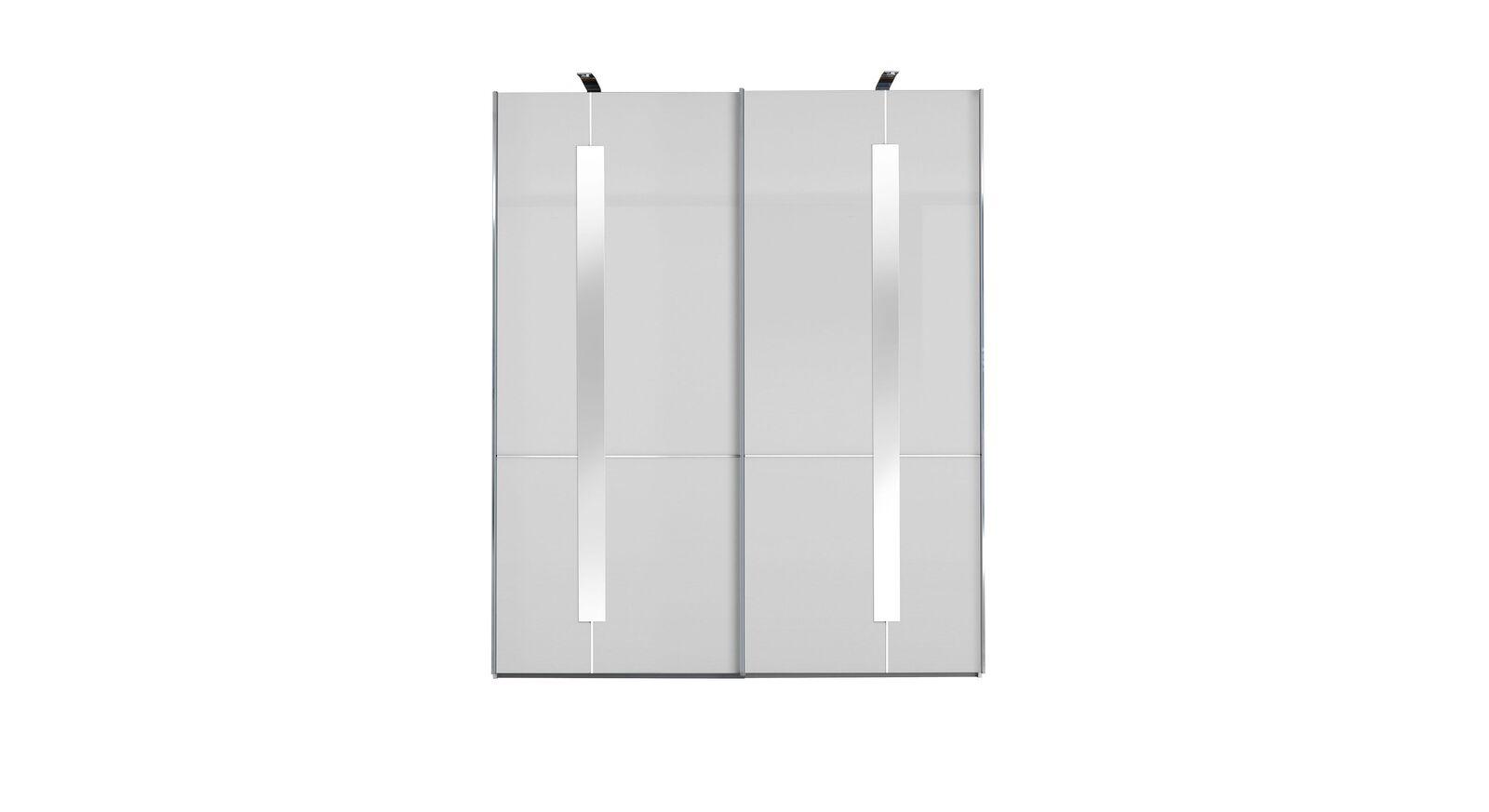 GALLERY M Schwebetüren-Kleiderschrank IMOLA W Weiß - 2-türig mit Zierspiegeln